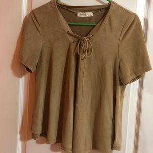 Beige flowy blouse